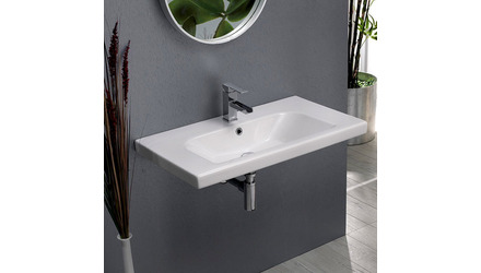 Lisboa Rectangle Ceramic 32 Inch Sink