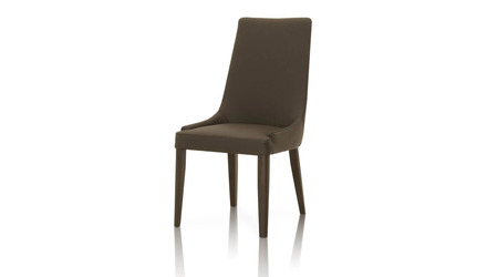 Padron Top Grain Leather Dining Chair - Set of 2 - Dark Brown