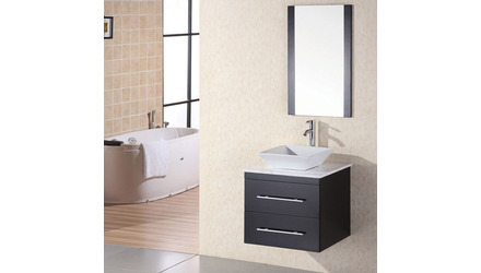 "Taylor 24"" Single Sink Quartz Vanity Set"
