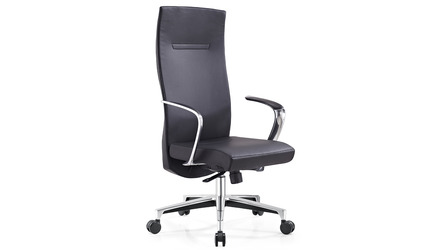 Tisch Leather Executive Chair - Dark Grey