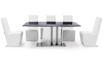 Nero Dining Set - 6 Chairs