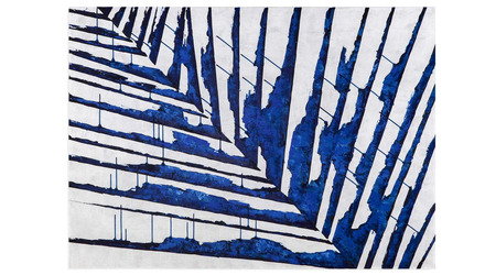 "Offshoot Canvas Art in Blue- 42"" x 58"""