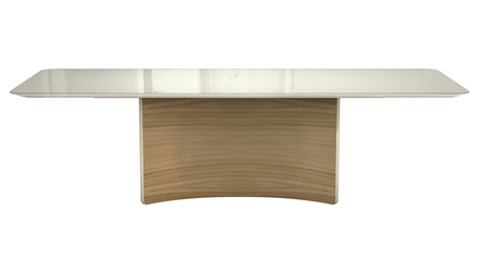 Rakel Dining Table - Beige Glass