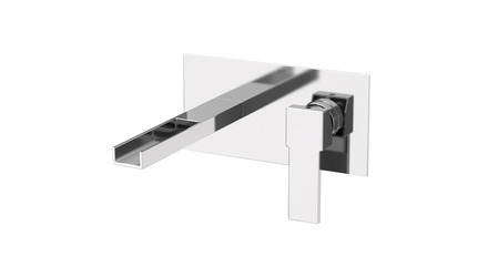 Qubika Cascade Wall Mounted Horizontal Sink Faucet