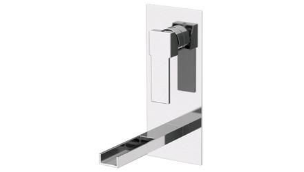 Qubika Cascade Wall Mounted Vertical Sink Faucet
