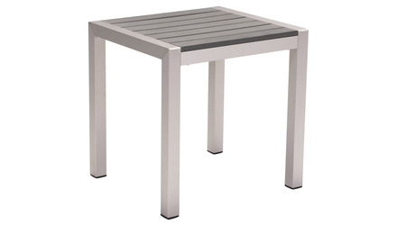 Rivera Side Table Brushed Aluminum