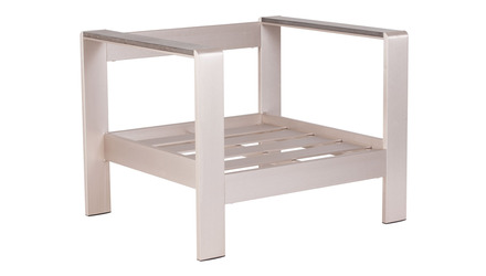 Rivera Armchair Frame Brushed Aluminum