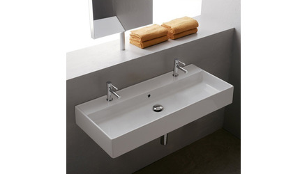 Teorema Wall Mounted - 2 Hole Sink