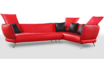 Vitali Sectional - Red