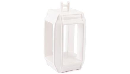 White Japanese Lantern Candle Holder Large