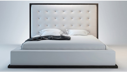 Siena Bed - White on Wenge