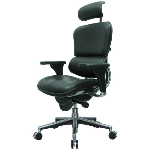 Ergohuman Leather Leather Swivel Chair with Headrest