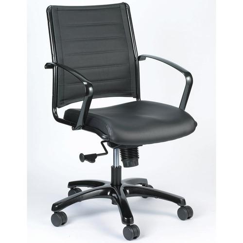 Europa Metallic Leather Swivel Chair