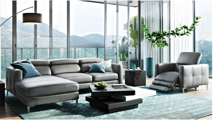 Reno Reclining Sectional with Arm Chair
