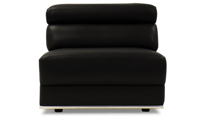 Wynn Armless 1 Seater Black