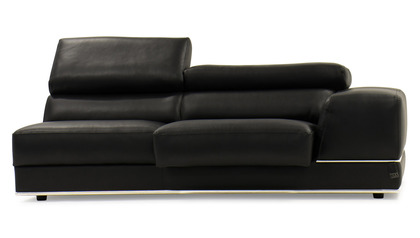 Wynn 3 Seater with Arm - Black