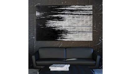 "Black Lightning Canvas Art - 80"" x 50"""