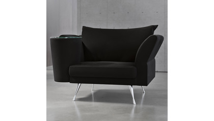 Cafe Chair - Black Velvet
