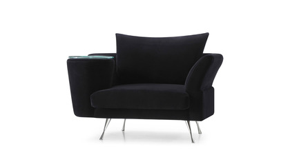 Cafe Chair - Black Velvet