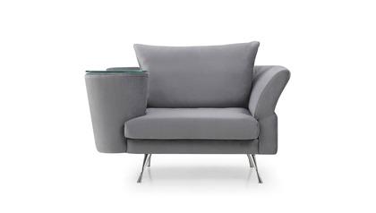 Cafe Chair - Gray Velvet