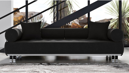 Carrera Sofa - Black Velvet