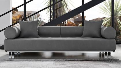 Carrera Sofa - Gray Velvet
