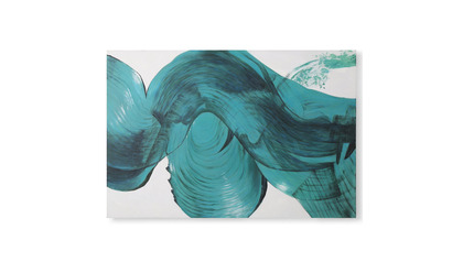 "Cerulean Blur Canvas Art - 72"" x 48"""