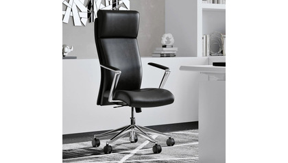 Draper Leather Executive Chair-Black