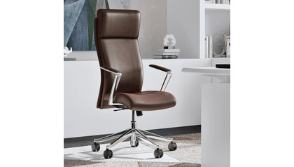 Draper Leather Executive Chair - Dark Brown