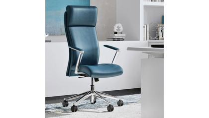 Draper Leather Executive Chair - Dark Teal