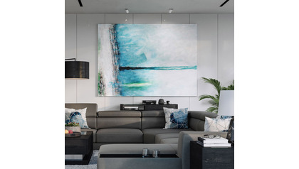 "Ethereal Sleet Canvas Art - 96"" x 70"""