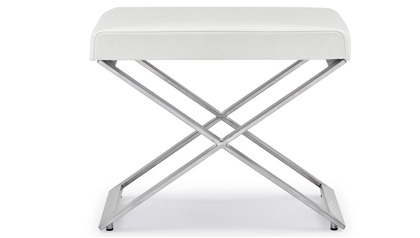 Fenix Ottoman - Brushed Stainless