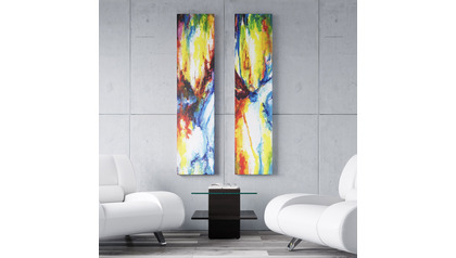 "Festival of Light I and II Canvas Art Combo - 60"" x 14"""