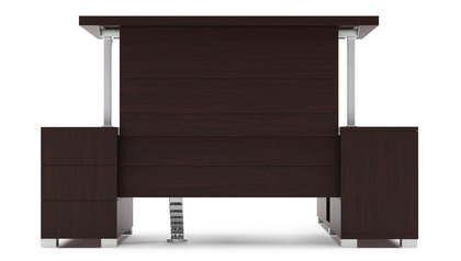 Ford Adjustable Height Desk with Return - Dark