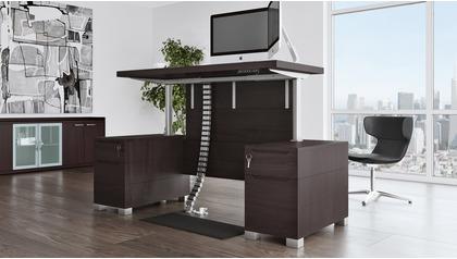 Ford Adjustable Height Desk - Dark