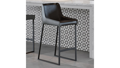 Helena Counter Stool - Black/Gray