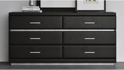 Henley Accent Chest - Black