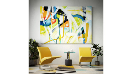 "Iberian Graffiti Canvas Art - 96"" x 70"""