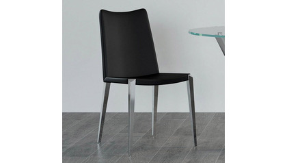 Jordan Dining Chair - Black / Polished Stainless