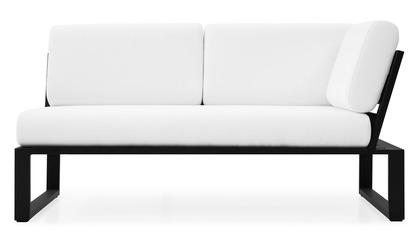 Kore 1 Arm Loveseat - Black/White