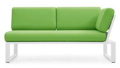 Kore 1 Arm Loveseat - White/Green