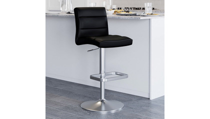 Black Lush Bar Stool