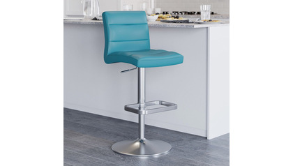 Teal Lush Bar Stool