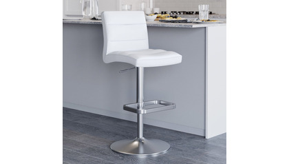 White Lush Bar Stool