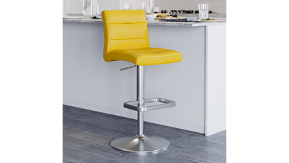 Yellow Lush Bar Stool