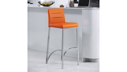 Orange Lynx Bar Stool
