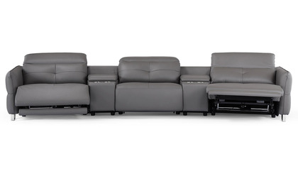 Macau Reclining Sectional Sofa with Storage Consoles