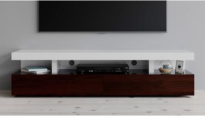 Mcintosh TV Stand - White and Ebony