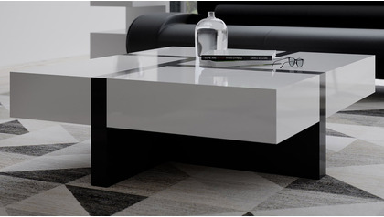 "McIntosh 40"" Square Coffee Table - White and Black"