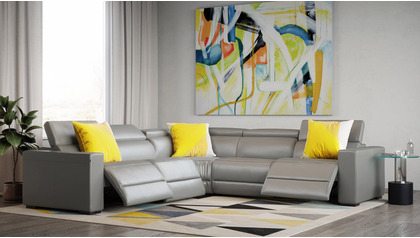 Mirage Reclining Sectional - Slate